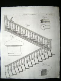 Architecture C1790 Antique Print. Staircase 65